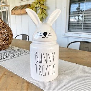 Rae Dunn | 'Bunny Treats' large ceramic canister